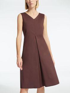Max Mara OGGI dark mauve: Cotton poplin dress.