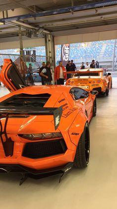 EKanoo Nissan GTR U0026 Lamborghini Aventador Liberty Walk