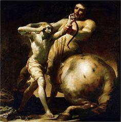 The centaur Chiron teaches young Achilles archery, 1700 Giuseppe Maria Crespi. Clash Of The Titans, Greek And Roman Mythology, Baroque Art, High Art, Chiaroscuro, Ancient Greece, Fantasy Creatures, Mythical Creatures, Dark Art