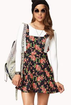 FOREVER 21 Sweet Floral Overall Dress on shopstyle.com