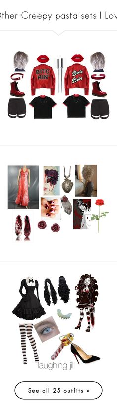 """Other Creepy pasta sets I Love"" by im-simply-2-mad ❤ liked on Polyvore featuring High Heels Suicide, Miss Selfridge, Pamela Love, Brooks Brothers, Christian Louboutin, WithChic, GET LOST, Wolford, Boohoo and River Island"