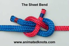 The Sheet Bend is recommended for joining two ropes of unequal size. The thicker rope must be used for the simple bight as shown. It works equally well if the ropes are of the same size.