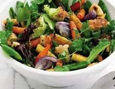 Roasted Baby Vegetable Salad - healthy, gluten-free & low FODMAP