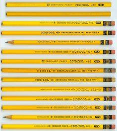 Mongol brand pencils made by Eberhard Faber (via http://www.pencilpages.com)