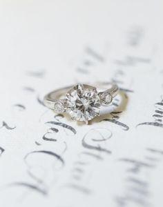 Engagement Rings 2017/ 2018   Triple diamond ring: www.stylemepretty