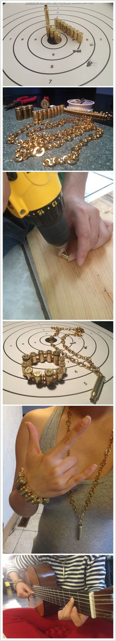 DIY bullet bracelet and necklace