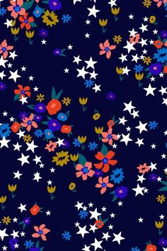 pattern | star floral art print by aaryn west