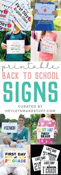 School is back in session! Capture all those amazing and memorable first day of school pictures with this awesome collection of printable First Day of School signs! Treatment Projects Care Design home decor First Day Of School Pictures, Last Day Of School, School Photos, Back To School Crafts, Back To School Teacher, School Fun, School Days, School Coloring Pages, School Accessories