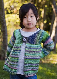 Ravelry: Girl's Garter Stitch Swing Jacket pattern by Sassy Skein