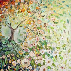 Trees and flowers - 5D diamond painting - 70X70CM / Square