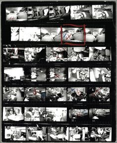 Robert Frank –Contact sheet, The Americans