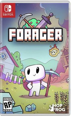 Forager Nintendo Switch Open World Crafting Strategy Educational Logic Game Logic Games, Xbox One Games, Nintendo Games, Nintendo Consoles, Nintendo Switch Games List, Wii Games, Costume Rouge, Nintendo Switch Animal Crossing, Playstation
