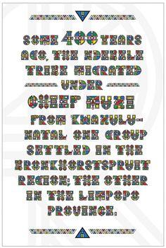 Teaching Typefaces (Mogwalo Ndebele TTF) on Behance Africa Art, Pattern Art, Photo Wall, Behance, Lost, Teaching, Frame, African Dress, Atelier