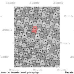 Stand Out From the Crowd Fleece Blanket Red Blanket, Cozy Blankets, Crowd, Kids Rugs, Design, Kid Friendly Rugs, Nursery Rugs