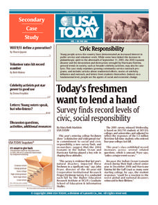 Civic Responsibility Handouts & Reference for - Grade Usa Today News, Social Studies Worksheets, Peace Corps, Freshman, Homework, Teaching Resources, No Response, Study, English