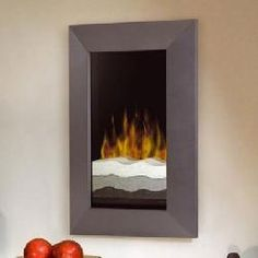 Dimplex Beveled Wall Mount Electric Fireplace with Tri Colored Sand and Gun Metal Trim