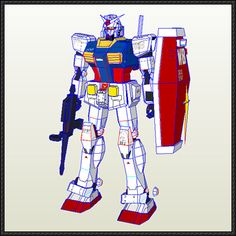 RX-78-2 Gundam Ver.6 Free Papercraft Download - http://www.papercraftsquare.com/rx-78-2-gundam-ver-6-free-papercraft-download.html