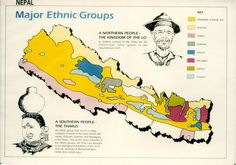 Nepal, Ancient Map, Ethnic