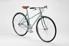 The svelte Capri, a mixte by Pelago Bicycles available in 5 and 8 speeds.