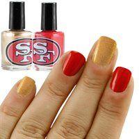 San Francisco 49ers Scarlet-Gold 2-Pack Nail Polish!