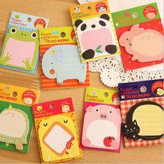 창조적 인 문구 숲 동물 시리즈 귀여운 종이 메모 패드/스티커 포스트 스티커 메모 메모장 학교 사무실 용품