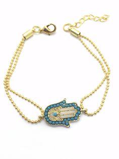 Hamsa Hand Gold Bracelet