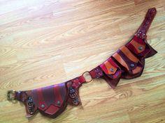 Custom Recycled leather Regal pocket belt Utility by KrakenWhip, $250.00