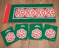MID-CENTURY MODERN BOB VAN ALLEN CHRISTMAS REINDEER TABLE RUNNER & NAPKINS | eBay