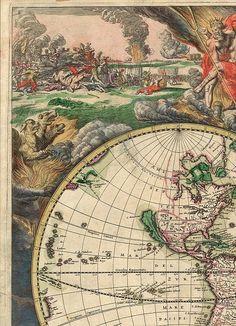Schagen World 4. Древние карты мира в высоком разрешении - Старинные карты