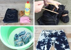 DIY Tie dye jeans, check AfterDRK for the whole proces and the result