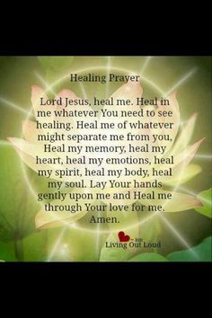 Prayer for healing <3 Yes---In the powerful name of Christ Jesus, Amen & So Be it!**