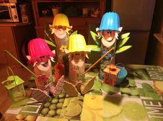 Blumenelfen Baumstammfiguren Wood craft