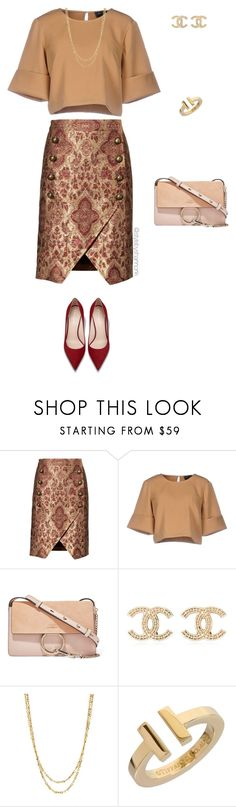 """""""Work Wear"""" by stylebyshannonk ❤ liked on Polyvore featuring Banana Republic, The Fifth Label, Chloé, Chanel and Tiffany & Co."""