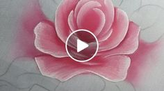 Pink Rose Painting Step-by-Step Acrylic Painting Flowers, Acrylic Painting Lessons, One Stroke Painting, Painting Videos, Tole Painting, Fabric Painting, Fabric Paint Designs, Giant Paper Flowers, Art Tutorials