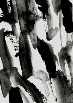 Inky Brushstrokes - painterly print design, black & white patten // Georgiana Paraschiv