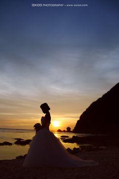 nice sunset silhouette