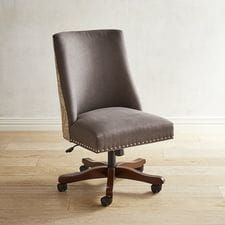 Corinne Mayfair Linen Desk Chair