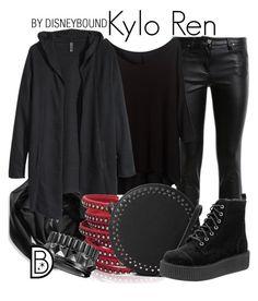 """Kylo Ren"" by leslieakay ❤ liked on Polyvore featuring Roberto Cavalli, Calvin Klein, H&M, Sif Jakobs Jewellery, MANGO, Waterford, disney, disneybound, starwars and disneycharacter"