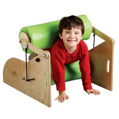 Squeezer - Kids love the pressure of this deep squeeze hug machine, the Squeezer. As they squeeze their way through the rollers, they receive the sensory input they crave, providing heavy work, calm, motor planning... and a whole new kid comes out on the other side. Your squeeze machine is made