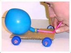 Balloon-powered car - Balloons - Activities - Questacon Science Squad - Sydney - On Tour: Programs - Questacon Balloon Powered Car, Balloon Rocket, Balloon Cars, Balloons, Balloon Ideas, Stem Projects, Science Projects, Projects For Kids, Diy For Kids