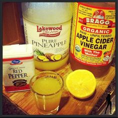 gives me a natural boost of energy, speeds up my metabolism, and helps keep my body alkaline because sister here drinks a lot of coffee so I need to balance that acidity!  My 2 favorite shots.. -1/2 TBSP ACV -1/2 TBSP Pineapple juice -1/2 squeezed lemon -dash of cayenne  OR -1/2 TBSP ACV -1/2 squeezed lemon -1/4 tsp raw honey -1/4 tsp cinnamon *Double Tap if you love little concoctions like this*