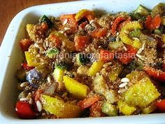persegani ricette - Cerca con Google Raw Food Recipes, Vegetable Recipes, Italian Recipes, Dinner Recipes, Cooking Recipes, Healthy Recipes, Antipasto, I Love Food, Good Food