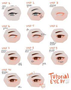 Astounding Learn To Draw Eyes Ideas Eyes Drawing Eye tutorial Eye Drawing Tutorials, Digital Painting Tutorials, Digital Art Tutorial, Drawing Tips, Art Tutorials, Drawing Ideas, Concept Art Tutorial, Drawing Drawing, Digital Paintings