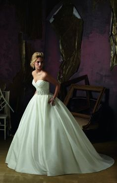 Mori Lee Bridal Wedding Dresses Photos on WeddingWire- a ball gown with no tool, a perfect sweet heart neckline and a nice embelished waist band. @Kimberly Peterson Harvey..duno what u wud think
