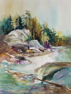 Sandbar by Lynn Weinstein ~ watercolor