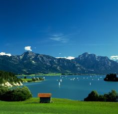 view of the Walchensee, Germany