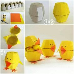 Well, egg carton craft ideas are not as difficult as they might appear at the first glance. These Egg Carton Crafts for Kids above will make you want to get Easy Easter Crafts, Easter Crafts For Kids, Diy For Kids, Easy Crafts, Easter Ideas, Easy Diy, Diy Plastic Bottle, Plastic Eggs, Egg Carton Crafts