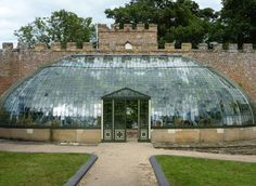 Italianate Greenhouse built 1805 - with fish scale panes of glass, King George VI Memorial Park [photo by pam fray, via Geograph] Conservatory Design, Conservatory Garden, Garden Architecture, Beautiful Architecture, Hothouse, Earth Homes, Memorial Park, George Vi, Concrete Jungle