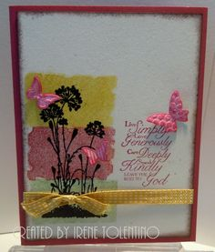 Relax. Make a Card: Trust God Stampin'Up