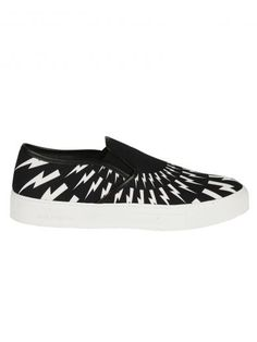 NEIL BARRETT Neil Barrett: Black/White Basketball Slip-On Sneakers. #neilbarrett #shoes #https: